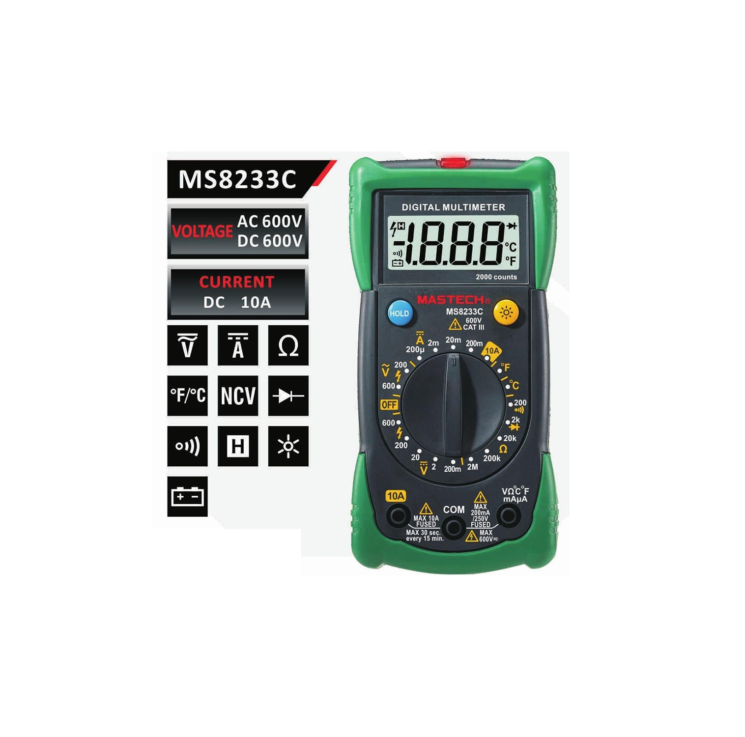 MASTECH MS8233C – Цифров мултиметър-мултицет